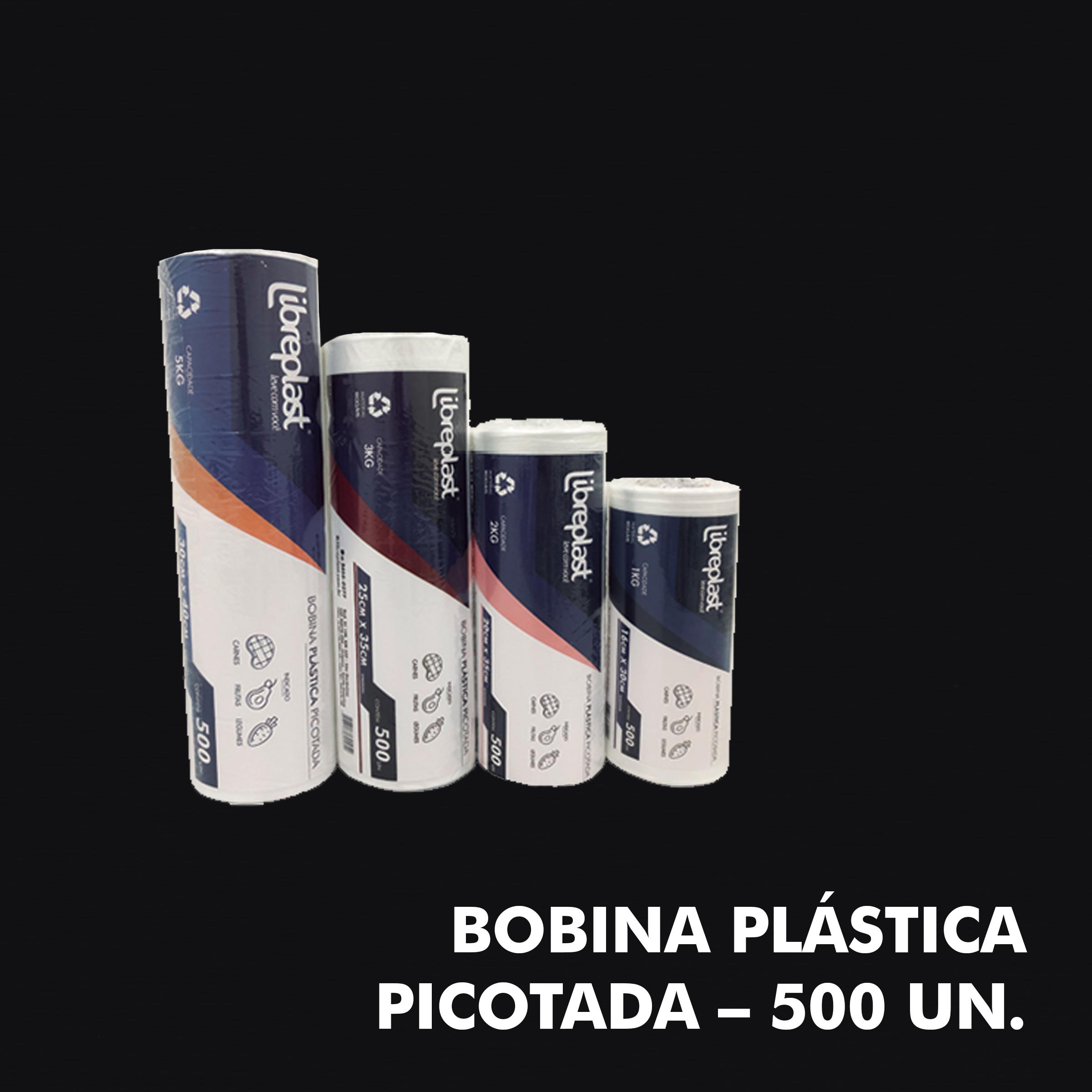 Bobina Plástica Picotada – 500 UN. - RF