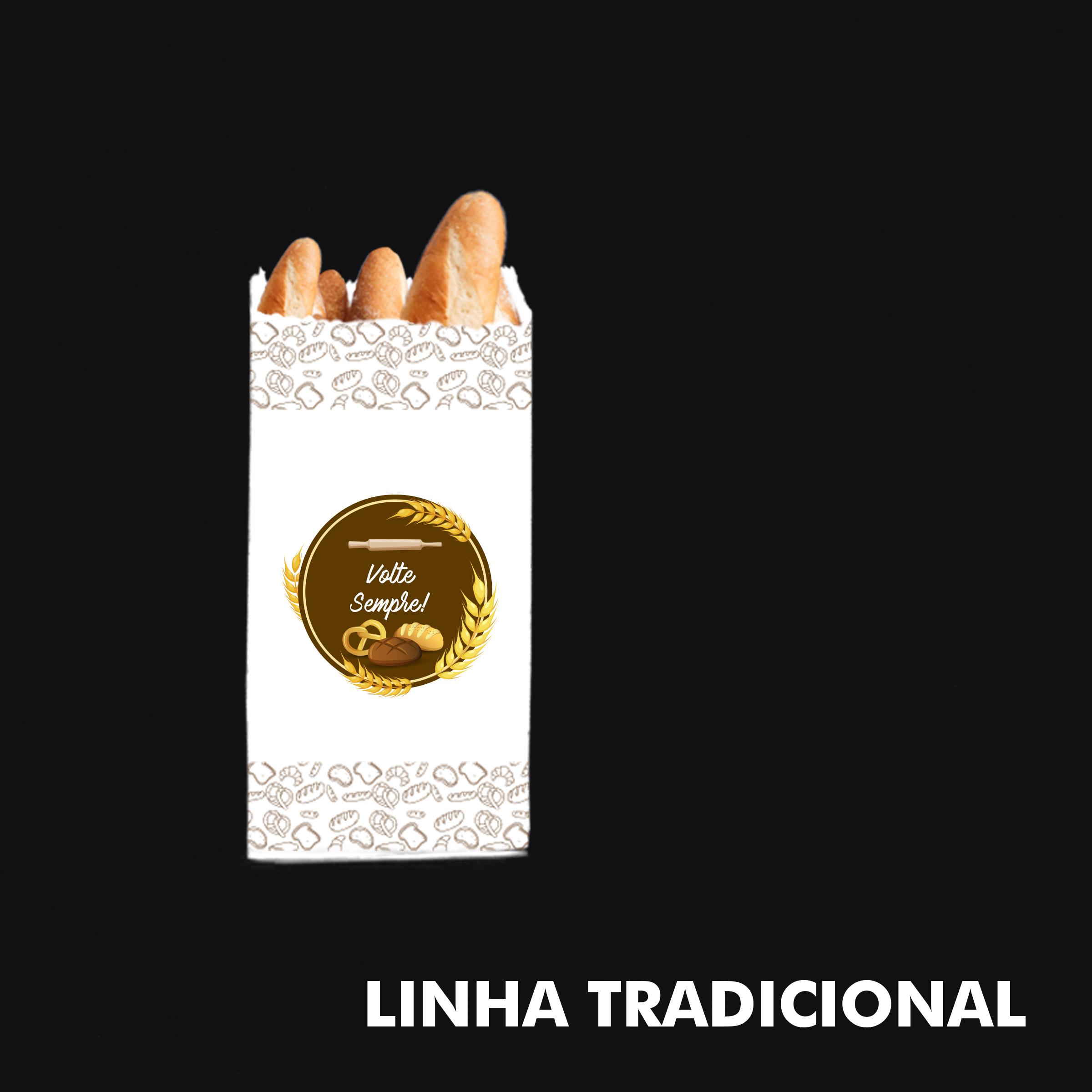 Saco de Papel Kraft Branco (Volte Sempre) – Tamanho Tradicional - RF