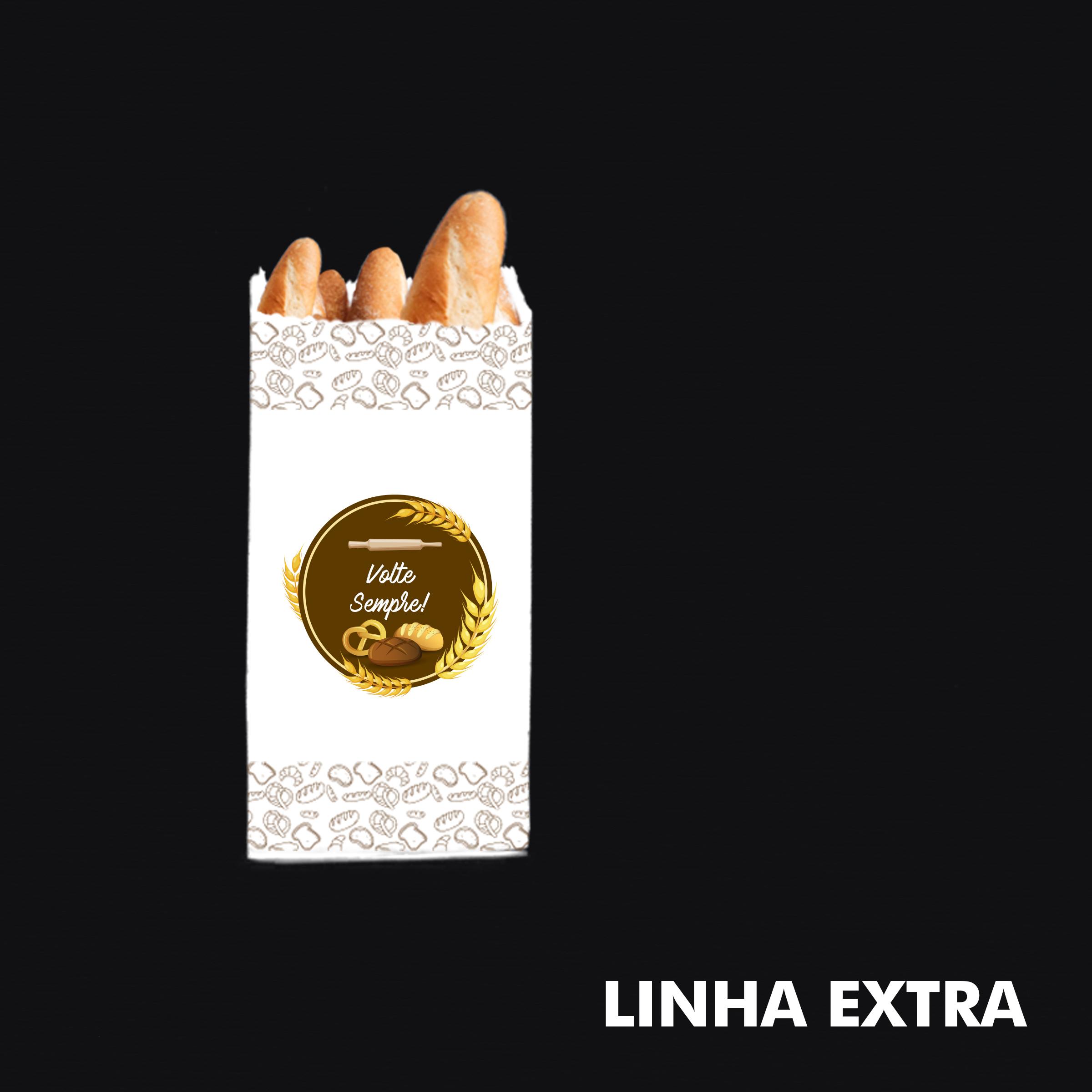 Saco de Papel Kraft Branco (Volte Sempre) – Tamanho Extra - RF