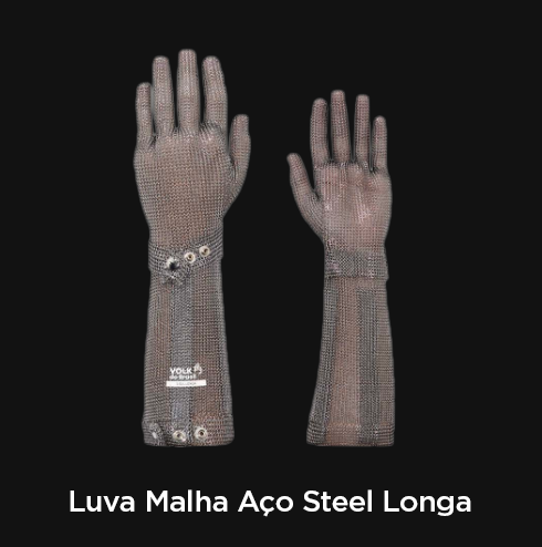 Luva Malha Aço Steel Longa - RF