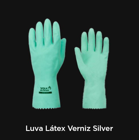 Luva Látex Verniz Silver Verde - RF