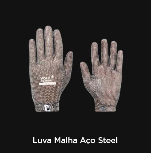 Luva Malha Aço Steel - RF