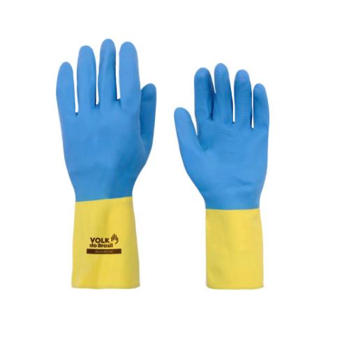 Luva Biocolor Volk Azul e Amarela - RF